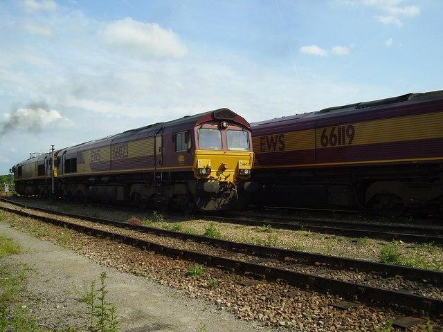 EWS class 66 locomotives
