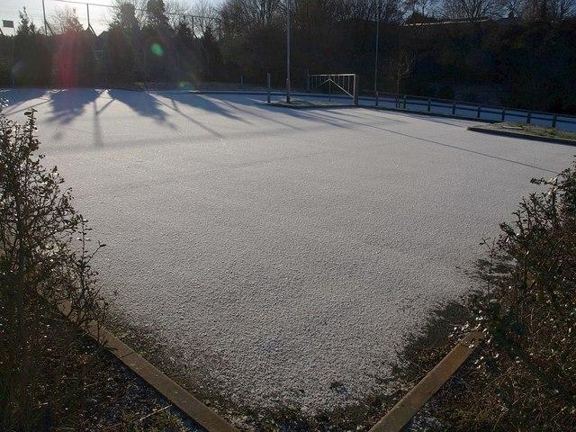 Snowy car park, Barton