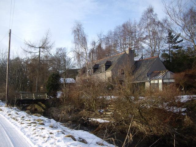 A private bridge over the Tarland Burn