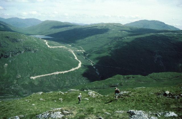 Descending from Beinn Bhuidhe to Glen Fyne
