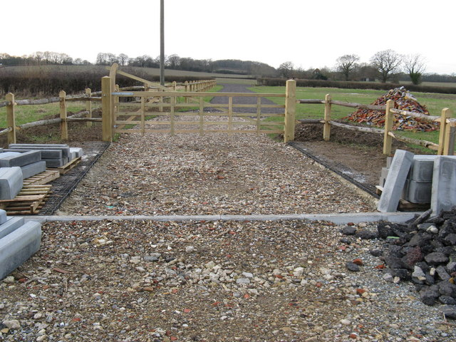 New road being built for Old Barn