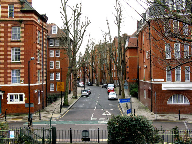 Bethnal Green:  Camlet Street from Arnold Circus