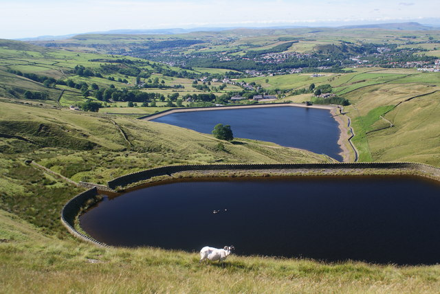 Reservoirs above Cowpe