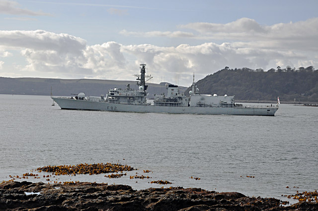 HMS Somerset puts to sea - Plymouth