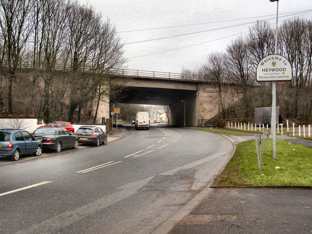 Heywood Old Road, M62 Bridge