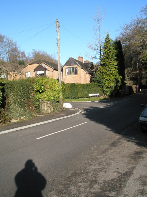 Approaching the junction of Cherry Tree Avenue and Lion Lane