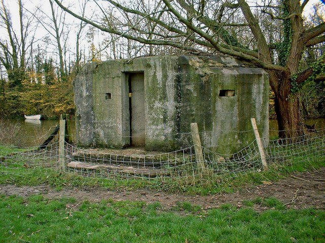 Pillbox by the River Thames