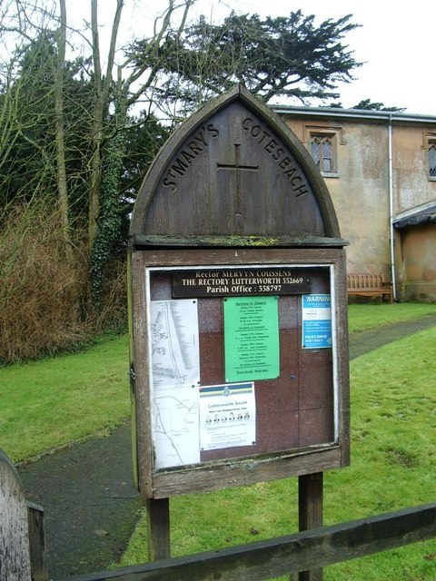 Church notice board, Cotesbach