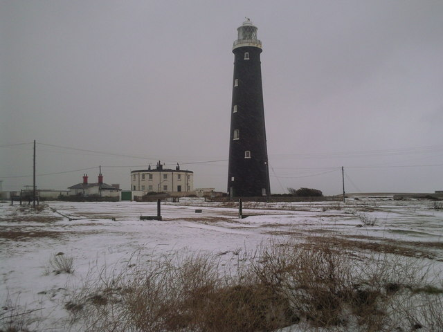 The Old Lighthouse at Dungeness in winter