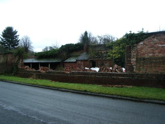 Demolished garden wall, Cotesbach