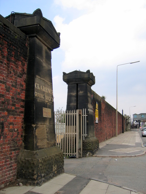 Entrance to Clarence Graving Docks