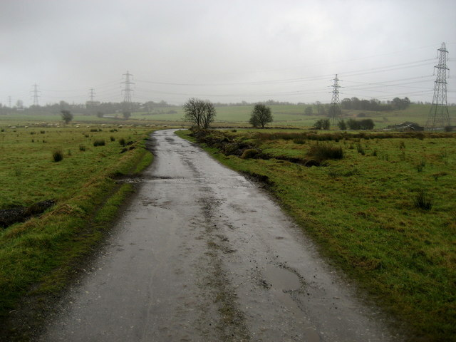 Track leading to Leeds and Liverpool Canal