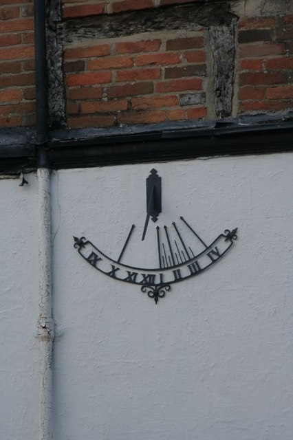 Sundial on the cottage