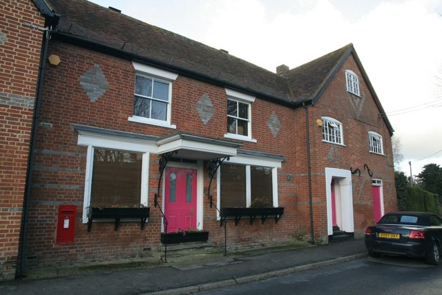Pink doors on the house