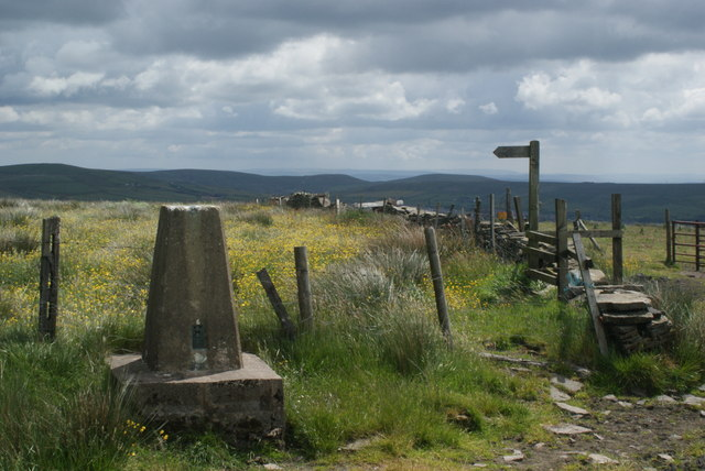 The trig point on Brex Height