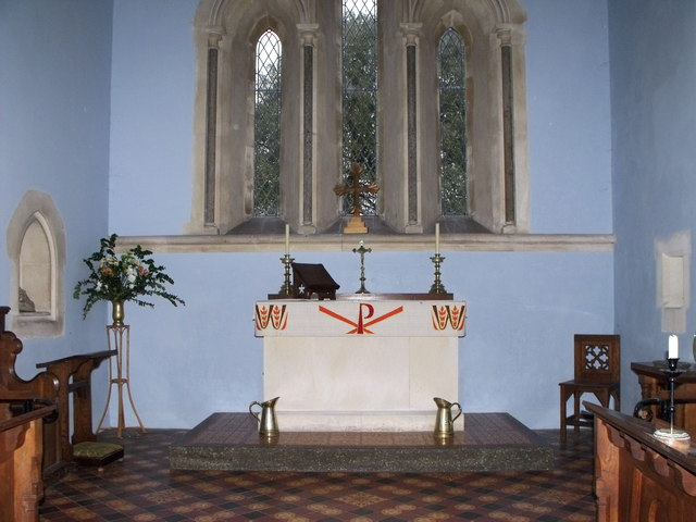 Interior of St. Leonard's, South Stoke, West Sussex