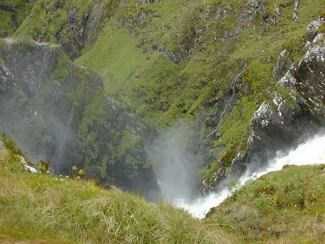 Looking down the Falls of Glomach