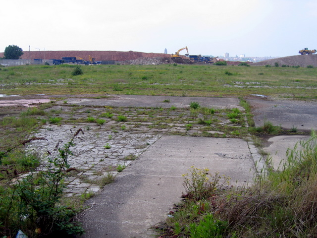 Site of the power station at Clarence Dock