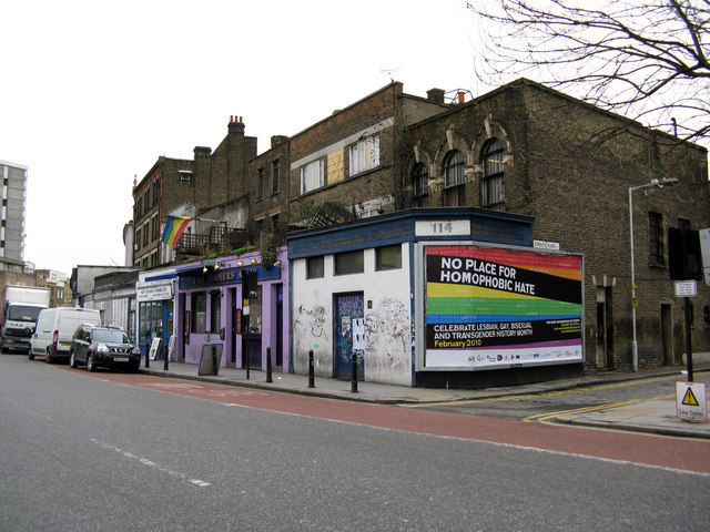 Haggerston:  Hackney Road and 'Joiner's Arms'