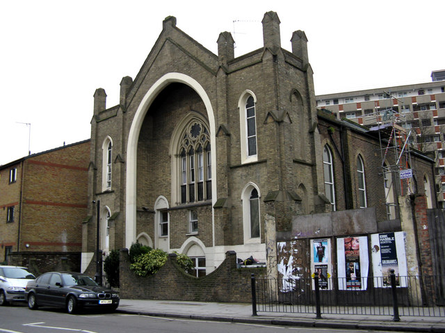 Haggerston:  Former church, Hackney Road