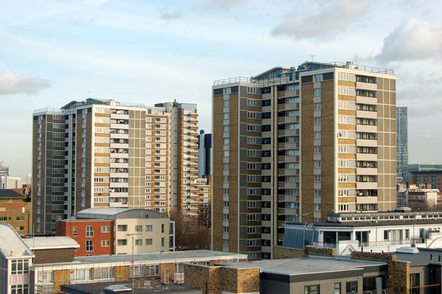 Night and day: roofscape in London EC1 (1)