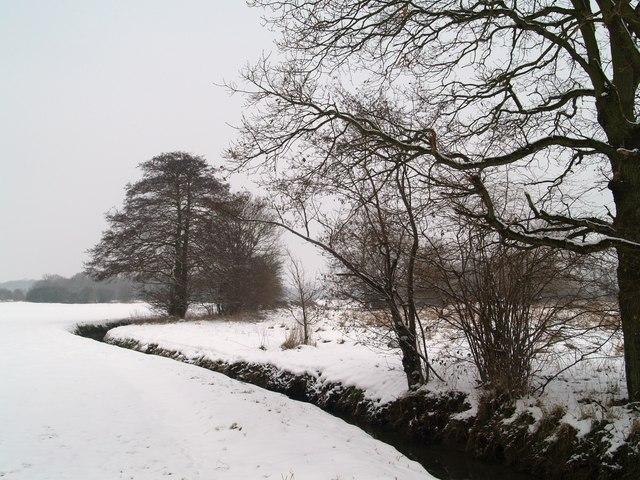 The Hop Farm in the snow.