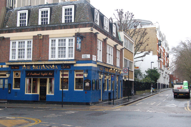 The Britannia, corner of Lever Street and Ironmonger Row EC1