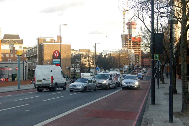 Looking southeast along City Road, London EC1