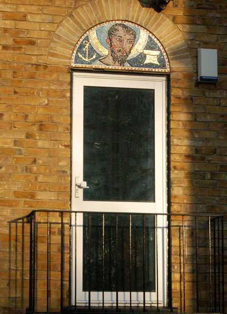 Doorhead beside St Clements Church, Finsbury, London EC1