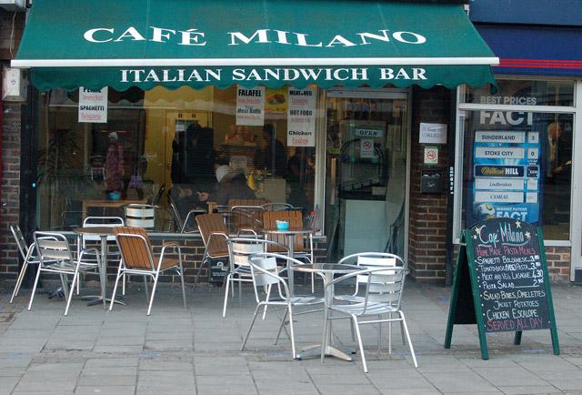 Cafe in Kings square, London EC1