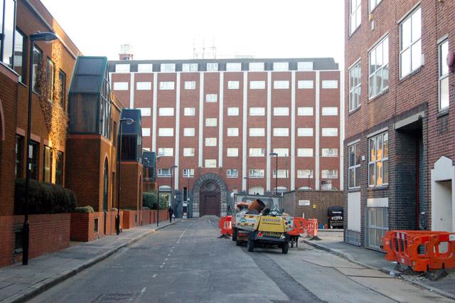 Looking south along Macclesfield Street, London EC1