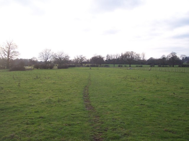 Bridleway and footpath junction near Haysden Water