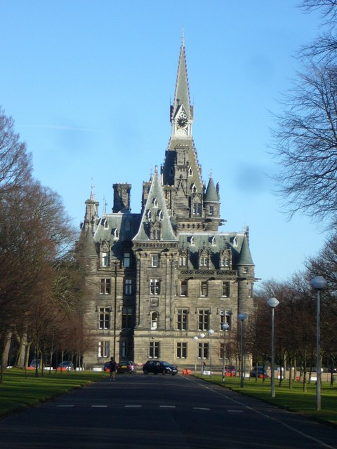Fettes College from the west entrance