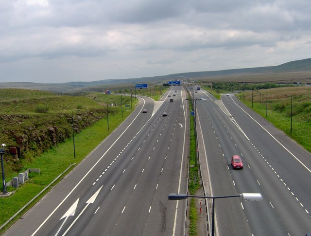 The M62 at Junction 22