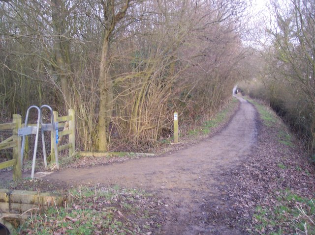 A Bridleway from Ensfield meets a cycleway