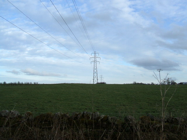 Pylon lines near Lees Hill
