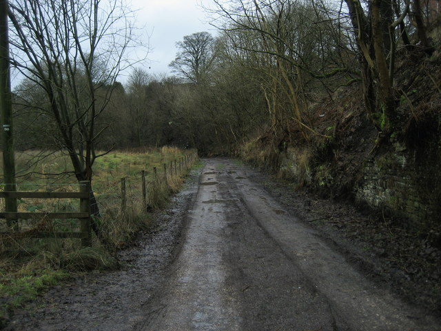 Access Lane beside Hyndburn Brook