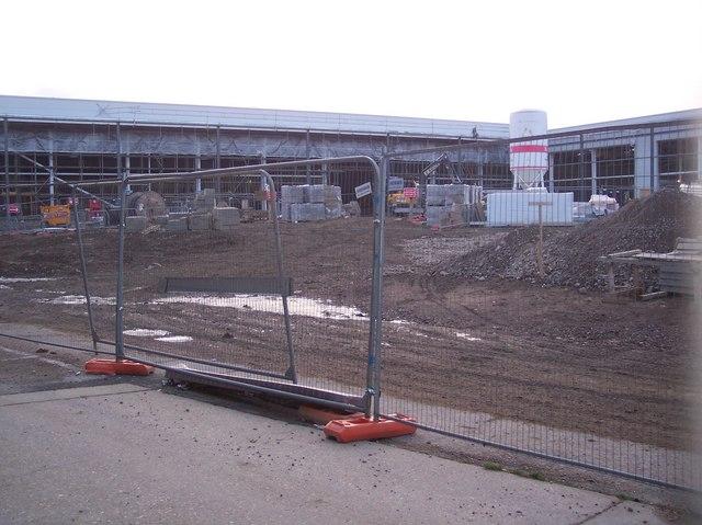 Construction of Royal Spa Retail Park