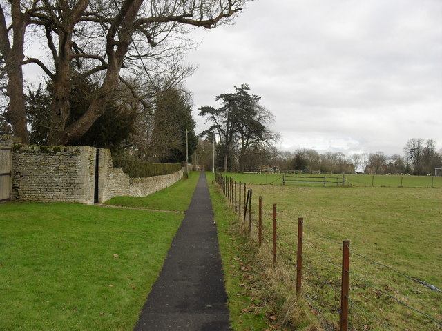 Path from Hatherop church