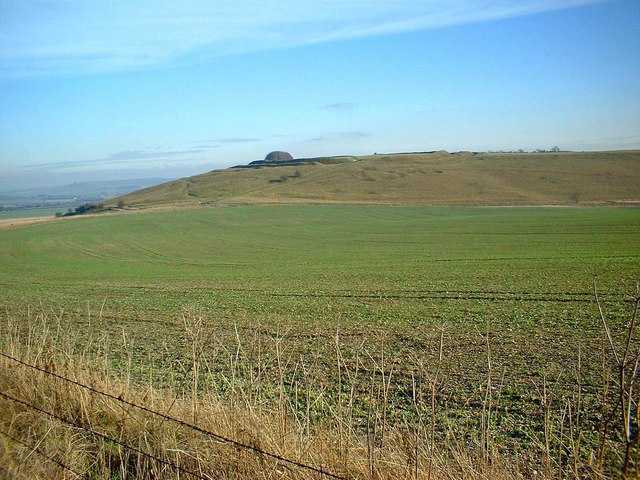 Looking towards Barbury Castle from The Ridgeway
