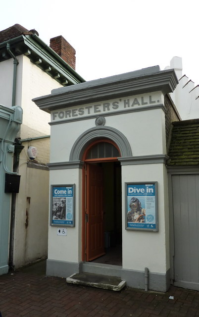 Entrance to Whitstable Museum and Art Gallery, Oxford Street