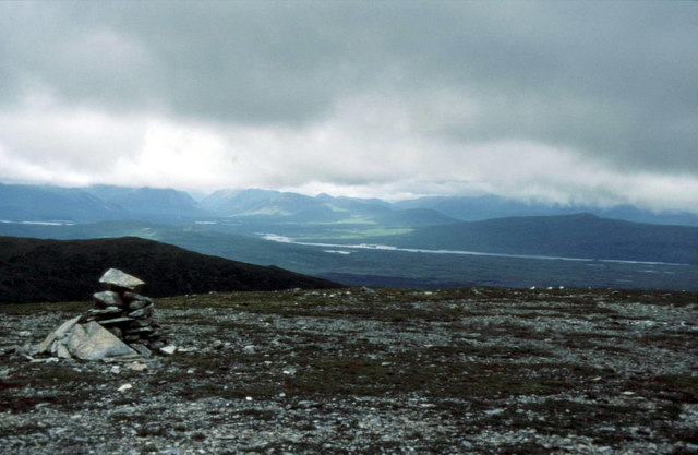 Summit cairn on Meall Buidhe