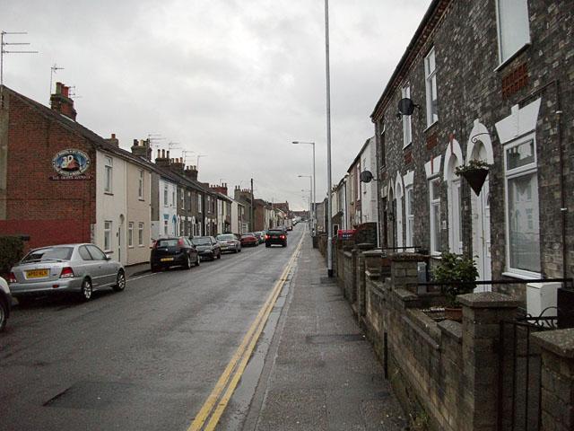 Suburban street in Gorelston