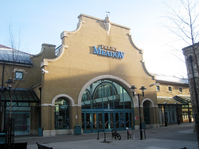 Entrance to Priory Meadow Shopping Centre