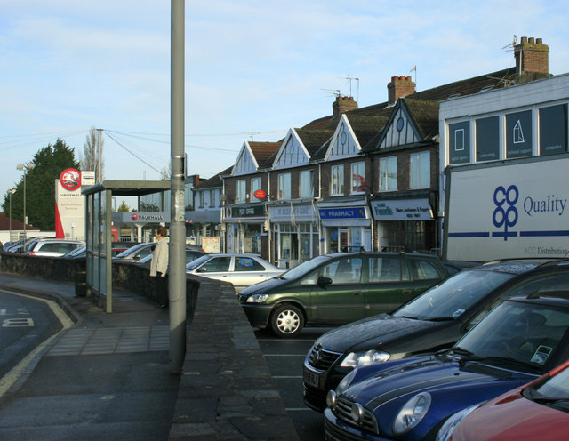2010 : Rank of shops with Post Office, Saltford
