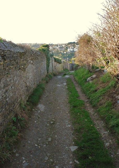Polruan: Battery Lane