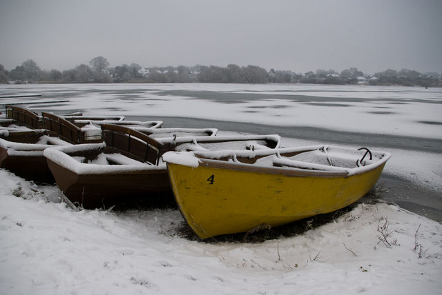 Waiting for Spring at Hornsea Mere, Hornsea.