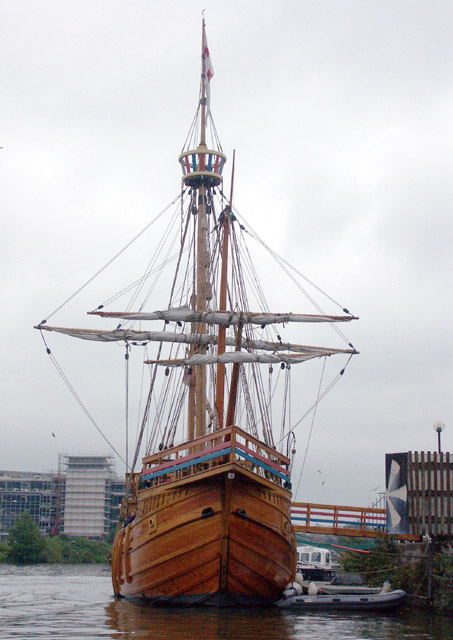 Bow view of the Matthew