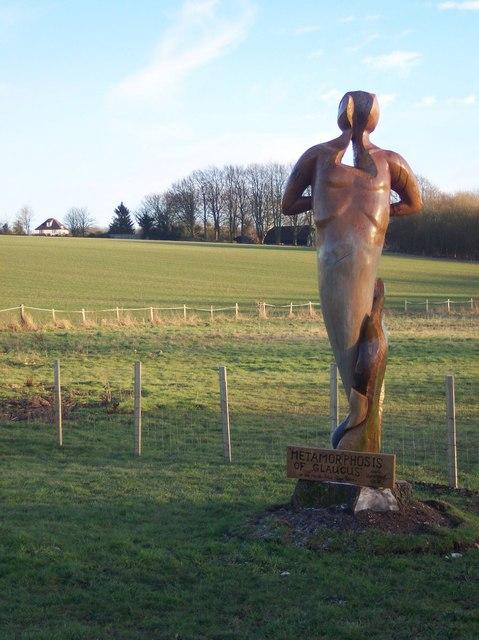 Metamorphosis of Glaucis Statue