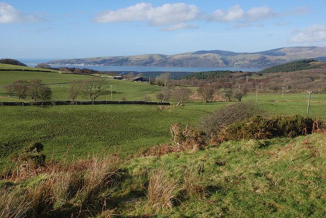 View towards the Dyfi estuary